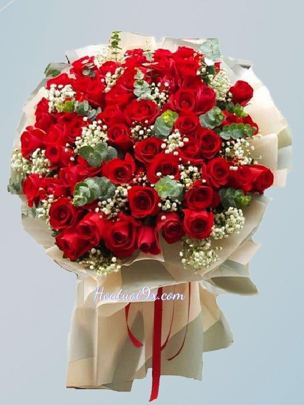 Bó hoa sinh nhật hoa hồng đỏ