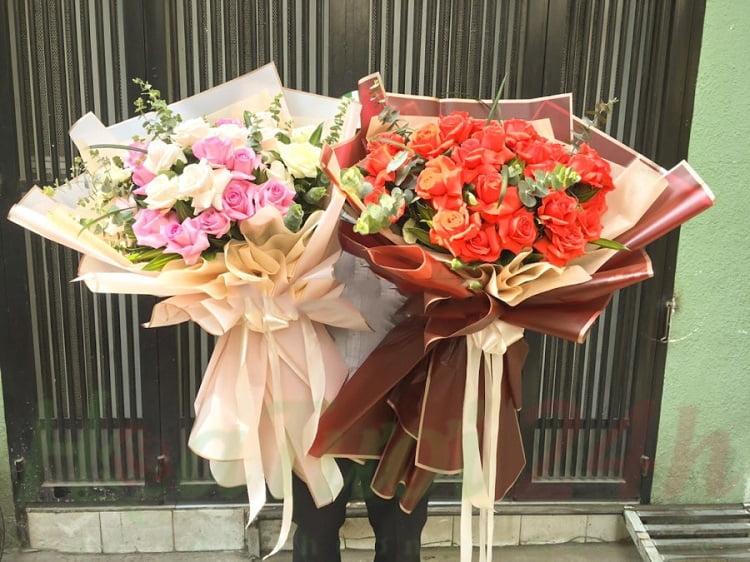 cách bó hoa tròn xinh ngất ngây