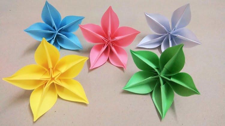Nguyên liệu chuẩn bị cách gấp hoa đơn giản mà đẹp bằng giấy Origami