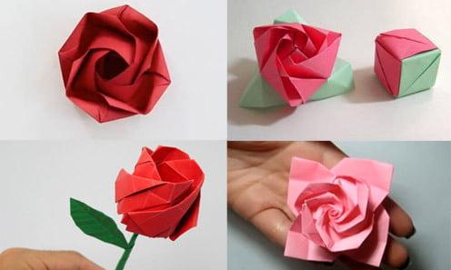 Thực hiện tạo hình cho cách gấp hoa đơn giản mà đẹp bằng giấy Origami