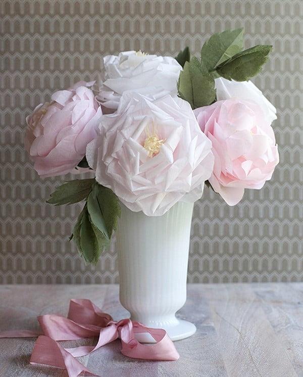 làm hoa bằng giấy vệ sinh