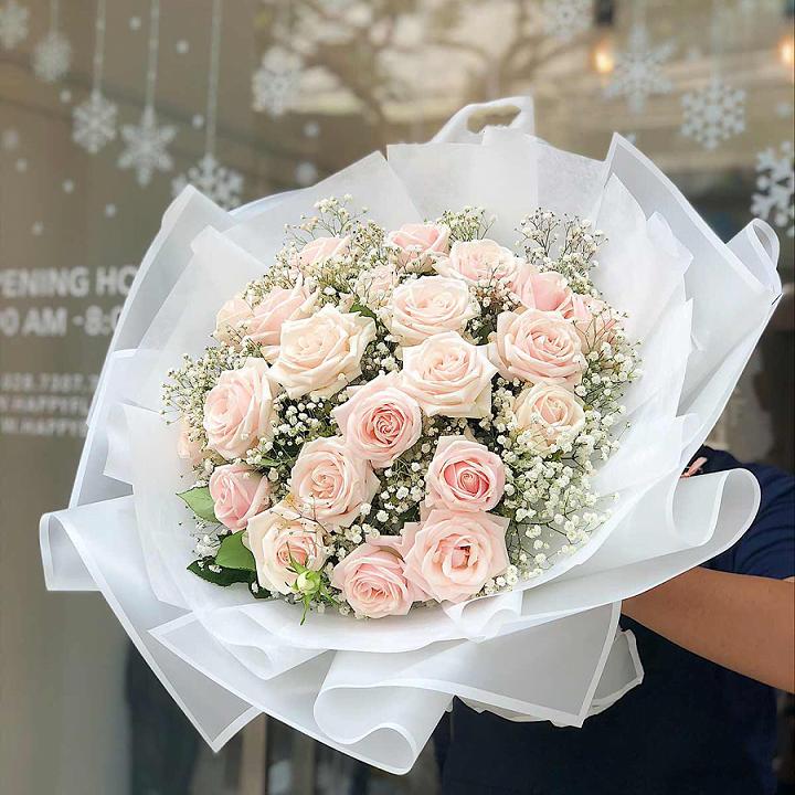 Ý nghĩa hoa hồng phấn tình yêu ngọt ngào