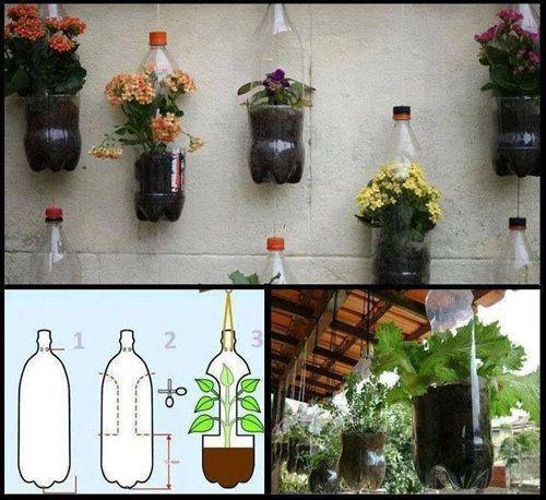 Cách làm chậu hoa treo bằng chai nhựa