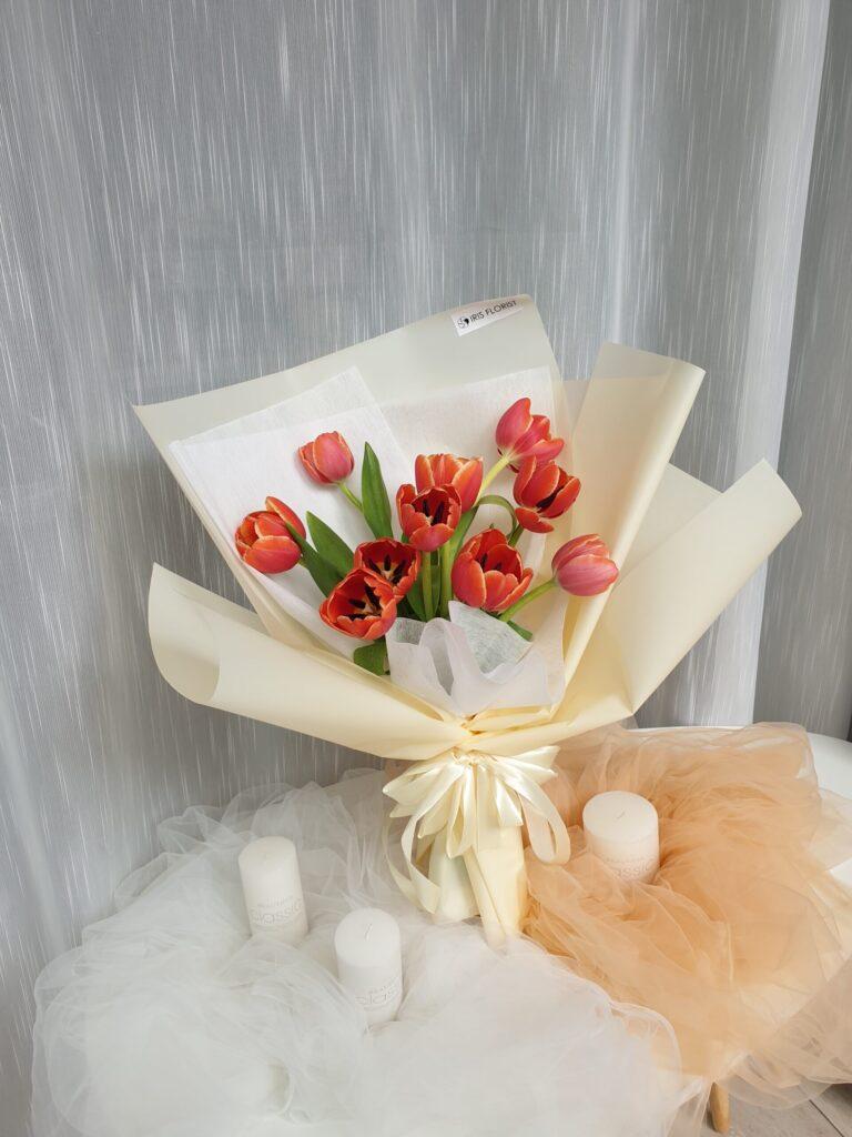 Hoa tulip và kỷ niệm ngày cưới