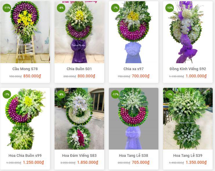 giá hoa tang lễ