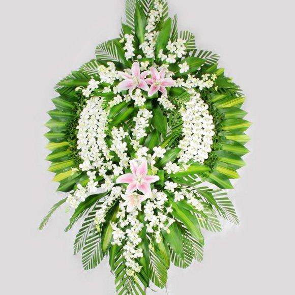 Trung bình một vòng hoa khi đã cắm có thể dùng được trong khoảng 7 ngày.
