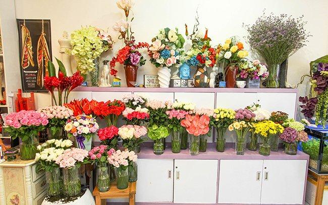 Các vật dụng trưng bày trong cửa hàng