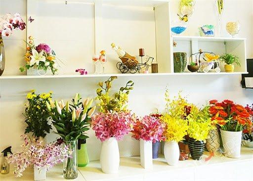 Trang trí cửa hàng khi mở shop hoa tươi