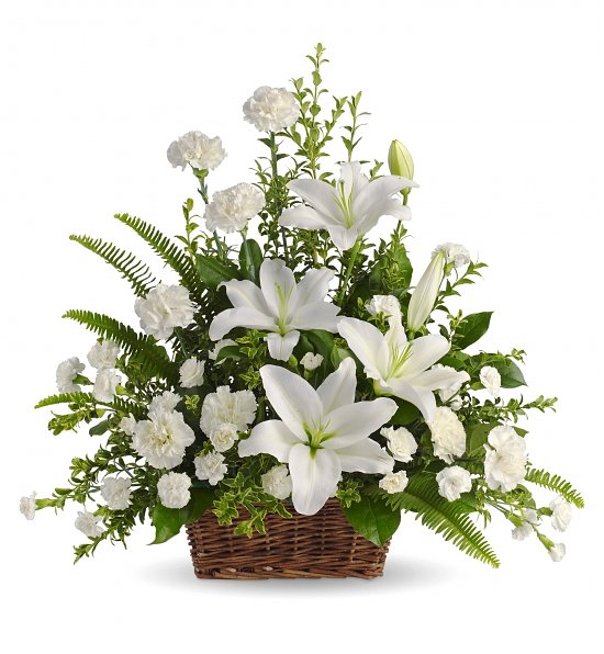 Giỏ hoa tang lễ sang trọng