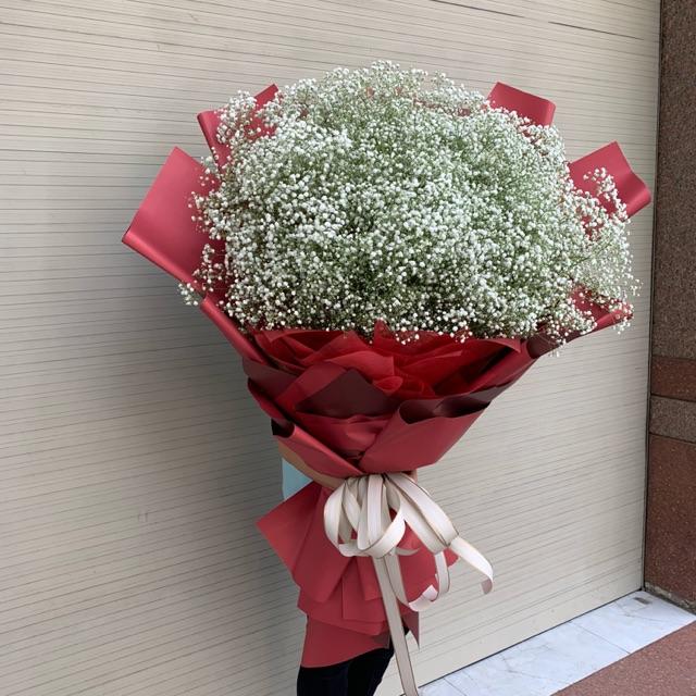 Dùng giấy vân long bó hoa