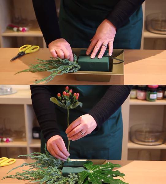 Cách cắm hoa sinh nhật để bàn hình trụ
