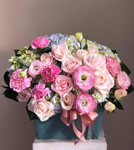 Trang trí và che phủ cho hộp hoa