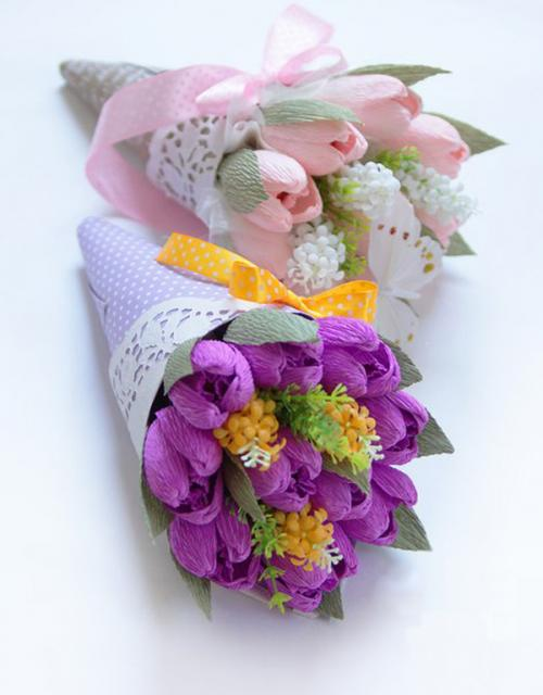 Cách làm bó hoa sinh nhật đẹp hình ốc quế