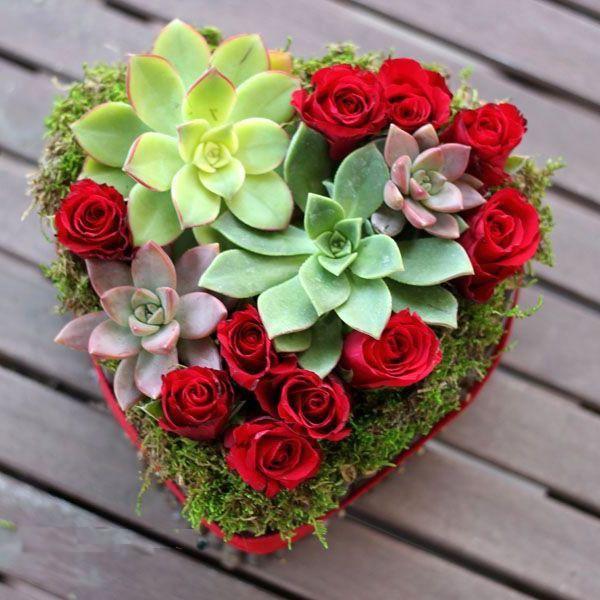 Cắm hoa hồng làm đầy khung