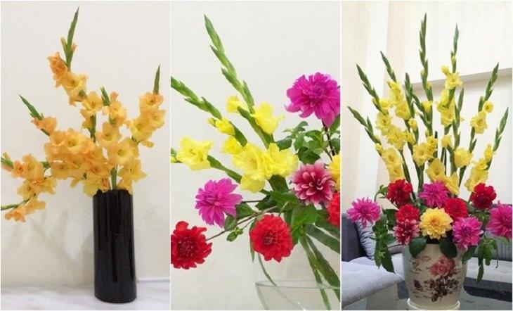 Nguyên liệu đơn giản để cắm hoa tươi dâng Phật