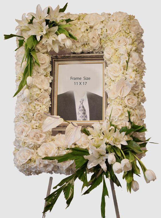 Nguyên liệu cần chuẩn bị để cắm hoa di ảnh cho khung hình đám tang
