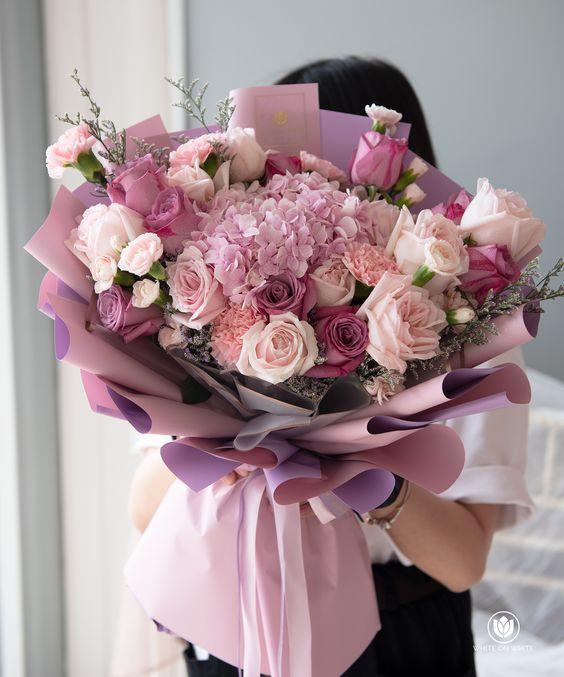 chọn nhiều màu hoa khác nhau dựa trên sở thích