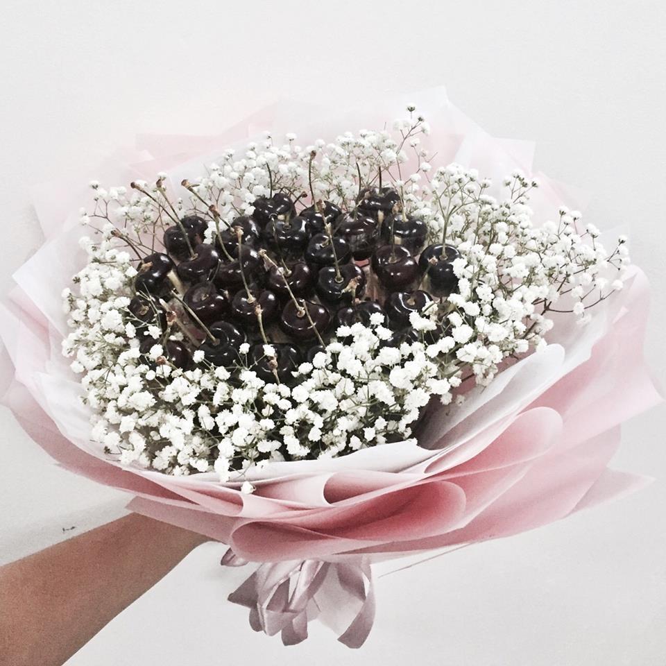 Nguyên liệu cần có của bó hoa cherry