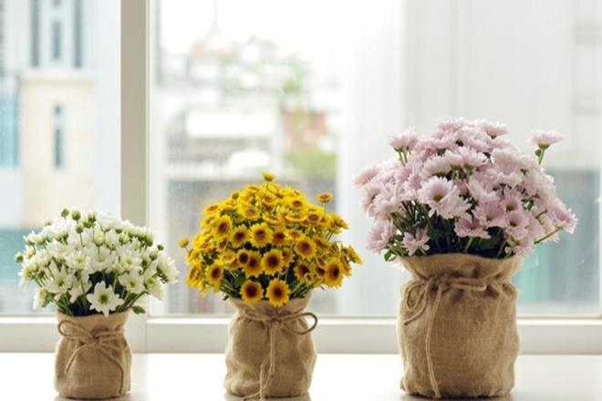 Phủ lá ngâu toàn bộ xung quanh bát hoa
