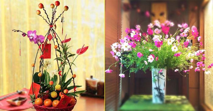 đo chiều dài hoa lá sao cho phù hợp nhất với không gian