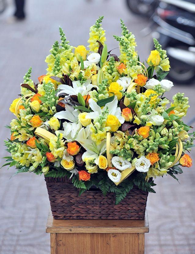 Nguyên liệu cắm giỏ hoa sinh nhật tông nam