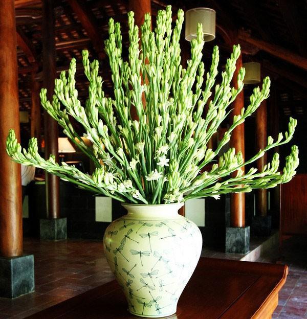 Vật liệu để cắm hộp hoa huệ trắng