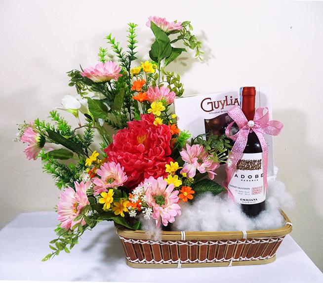 Phủ lá cho hộp hoa