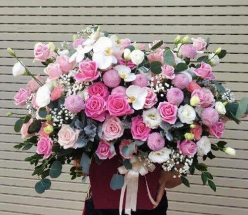 Bí kíp cắm hộp hoa tặng sinh nhật nữ đơn giản nhất