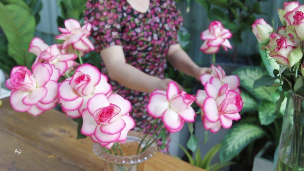 thay đổi cấu tạo của bông hoa thì sản phẩm của chúng ta nhìn đẹp mắt và lạ hơn