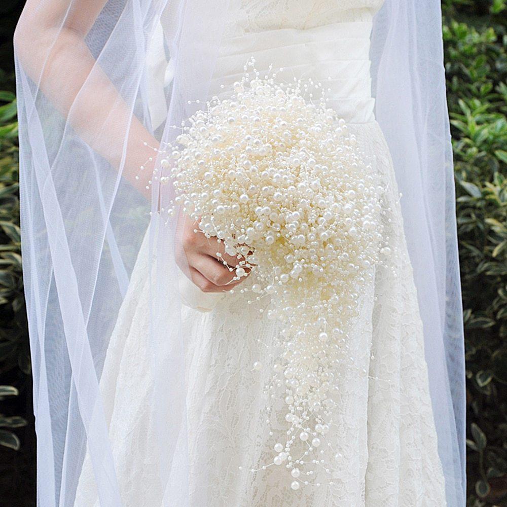 Cách bó hoa cưới bằng ngọc trai đơn giản nhất