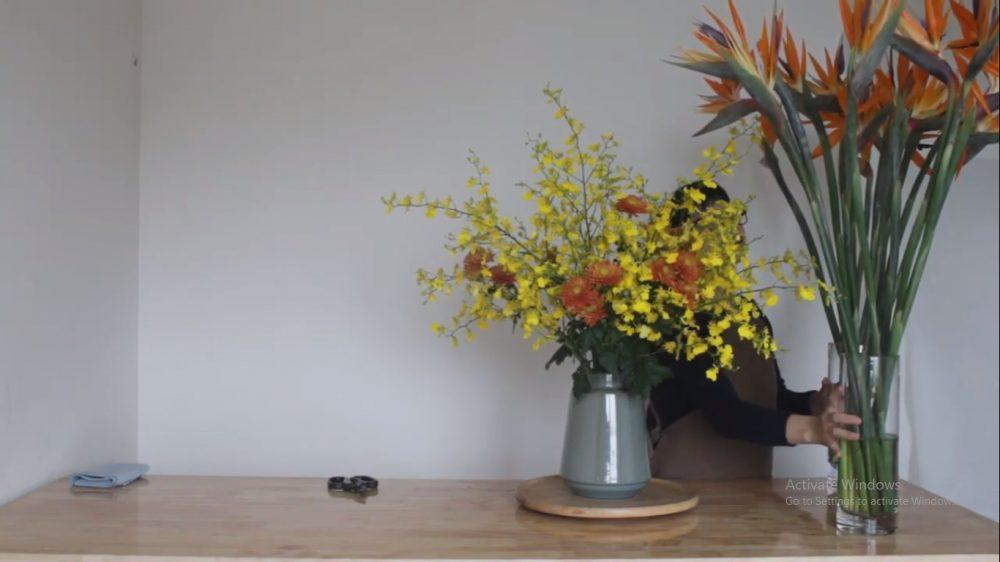 Cắm hoa lan vũ nữ