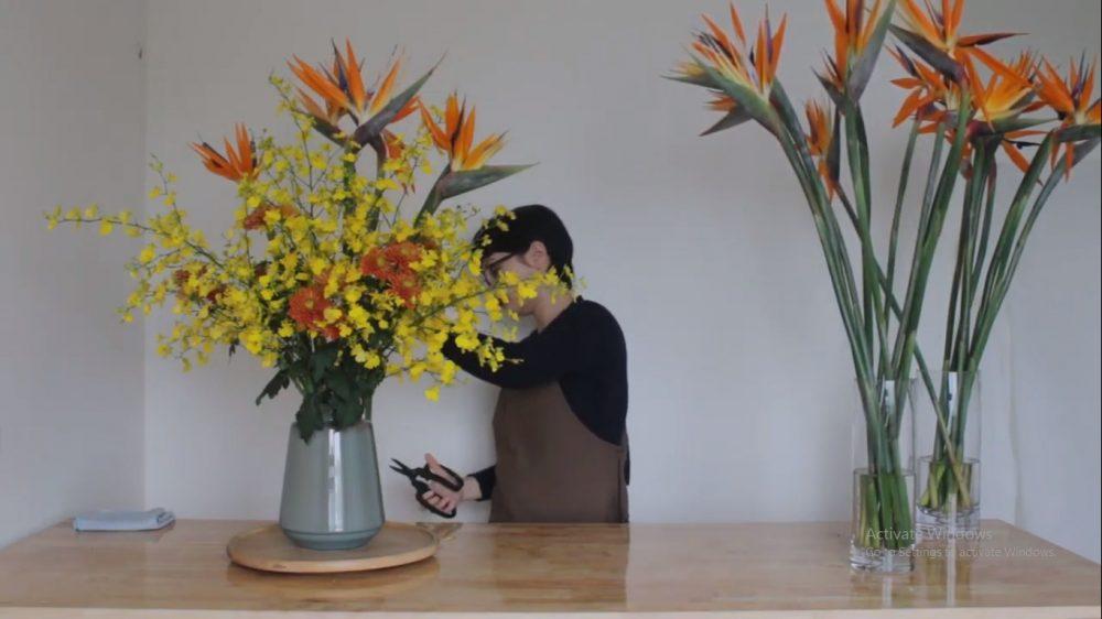 Cắm hoa thiên điểu